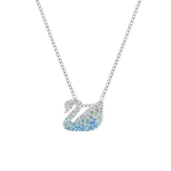 Lance The New Necklace Ice Blue Gradient Color Necklace Female Swan With Red Necklace