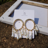 Lance Europe Exaggerated Baroque Court Style Long Pearl Retro Earrings