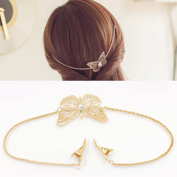 Lance Europe And America Foreign Trade Hair Accessories Flower Butterfly Hair Hoop Leaf Clip