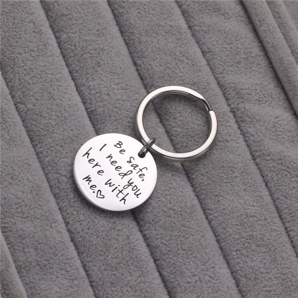 Lance Europe And The United States Be Safe I Need You Here With Me Titanium Steel Round Keychain