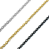 Lance Stainless Steel Necklace Titanium Steel O Shape Chain