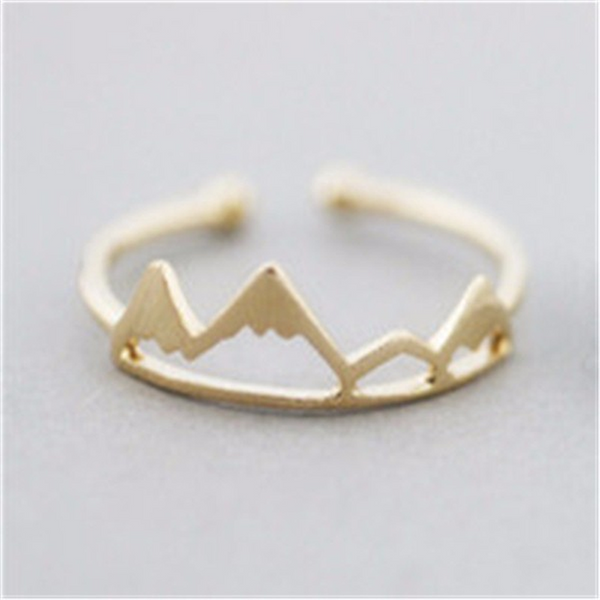 Lance Simple Hot Selling Popular Mountain Shaped Tourist Mountain Ring Female