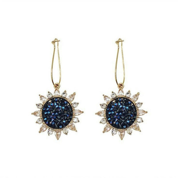 Lance Lady Women Dangle Sunflower Earrings Star Ear Stud Earring New Jewelry