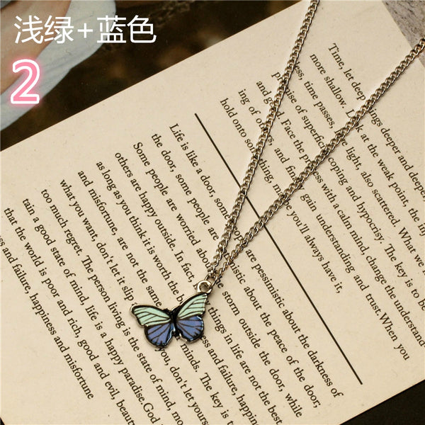 Lance Retro Drip-painted Diamond Necklace with Diamonds Fashion Alloy Long Sweater Chain
