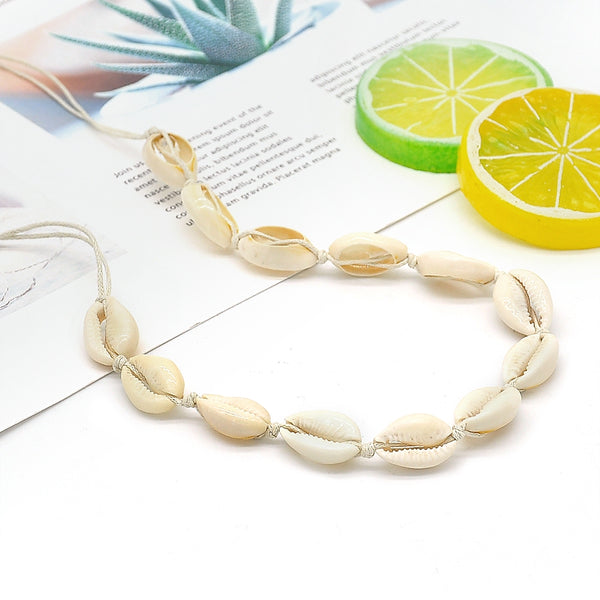 Lance Retro Accessories Cotton Rope Weaving Natural Shell Necklace