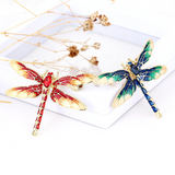 Lance Fashion Cute Color Drop Oil Lovely Dragonfly Insect Brooch