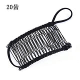 Lance Vintage Banana Hair Clip Double Comb Hair Accessory Stretchable Banana Comb