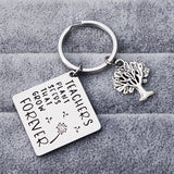 Lance Europe And The United States Titanium Steel Lettering Life Tree Keychain