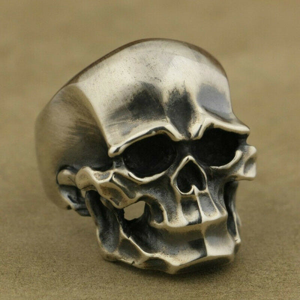 Lance Ring Jewelry Skull Head Finger Punk Boy Men's Gothic Cool Biker Personality