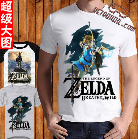 RetroPixl Retro Goodies retrogaming T-shirt Tshirt Zelda Breath of the Wild BOTW