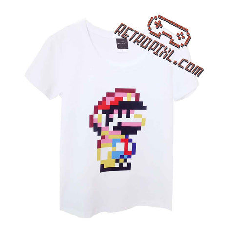 RetroPixl Retro Goodies retrogaming Mario Pixel T-shirt Tshirt