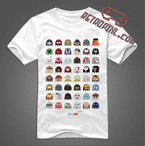RetroPixl Retro Goodies retrogaming Pacman Pixel T-shirt Tshirt