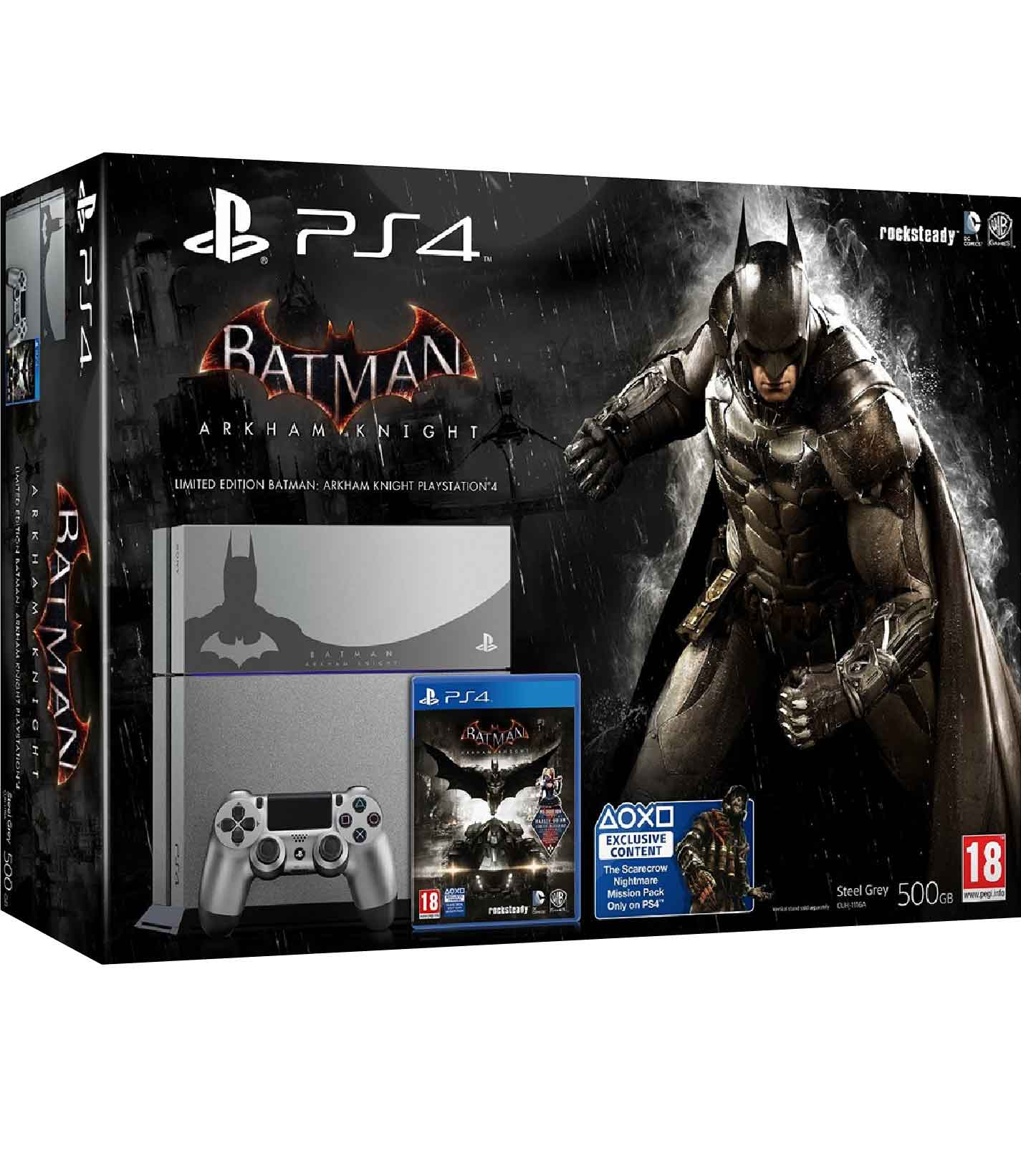 RetroPixl Sony Playstation 4 (PS4) Batman Limited Edition Bundle