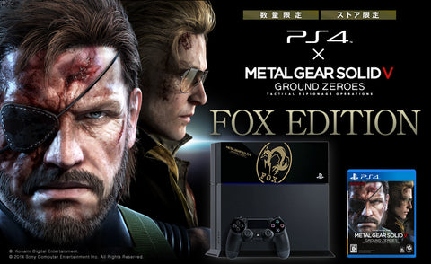 Sony Playstation 4 (PS4) Metal Gear Solid: Ground Zeroes Fox LIMITED EDITION
