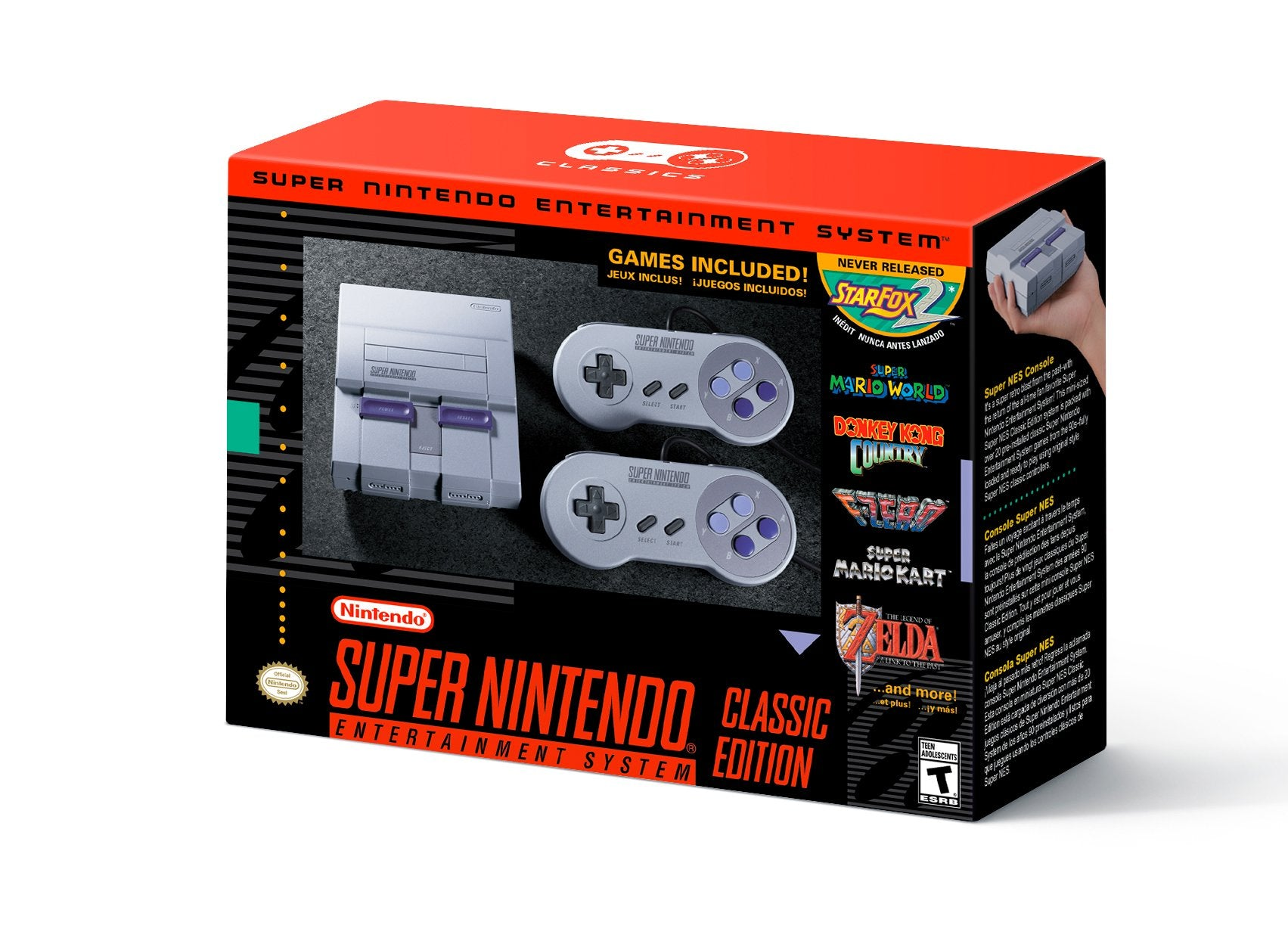 Super Nintendo Entertainment System: SNES Classic Edition - SNES Mini - LIMITED EDITION - US VERSION