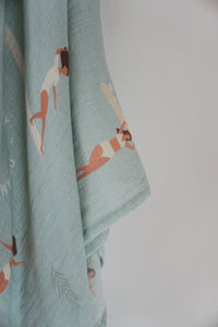 organic cotton wrap - surf, hawaii, aloha