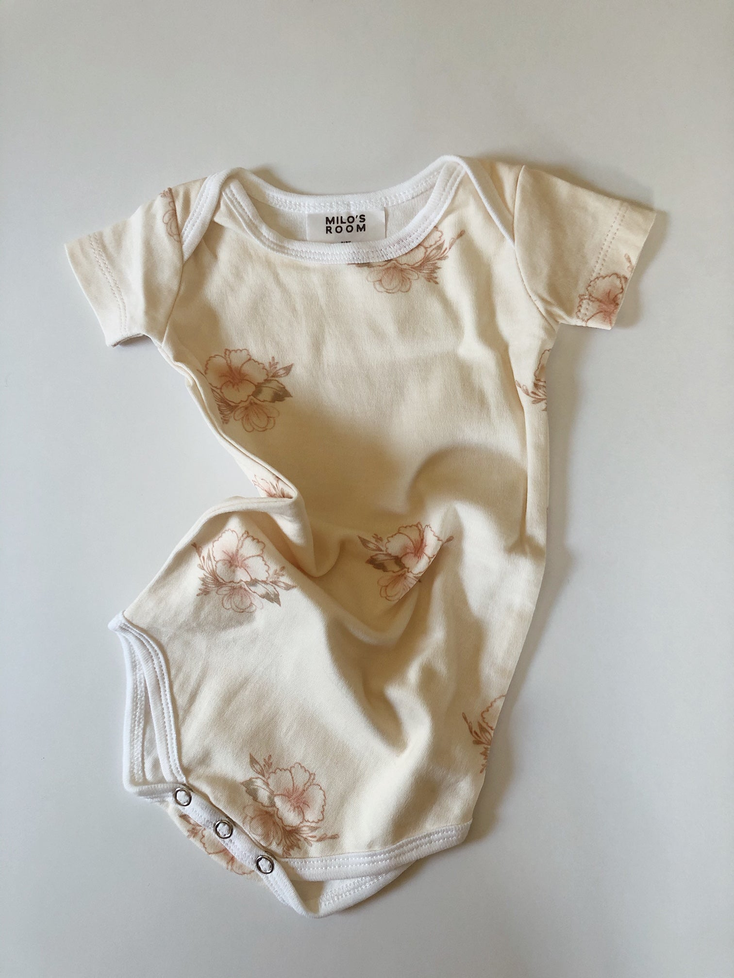 Short Sleeve Envelope Onesie - Hibiscus