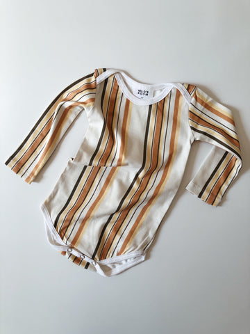 Long Sleeve Envelope Onesie - Sol Stripes