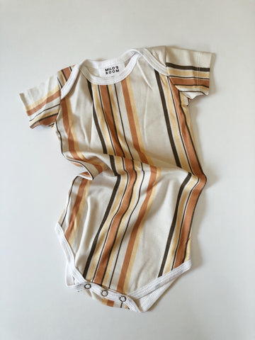 Short Sleeve Envelope Onesie - Sol Stripes