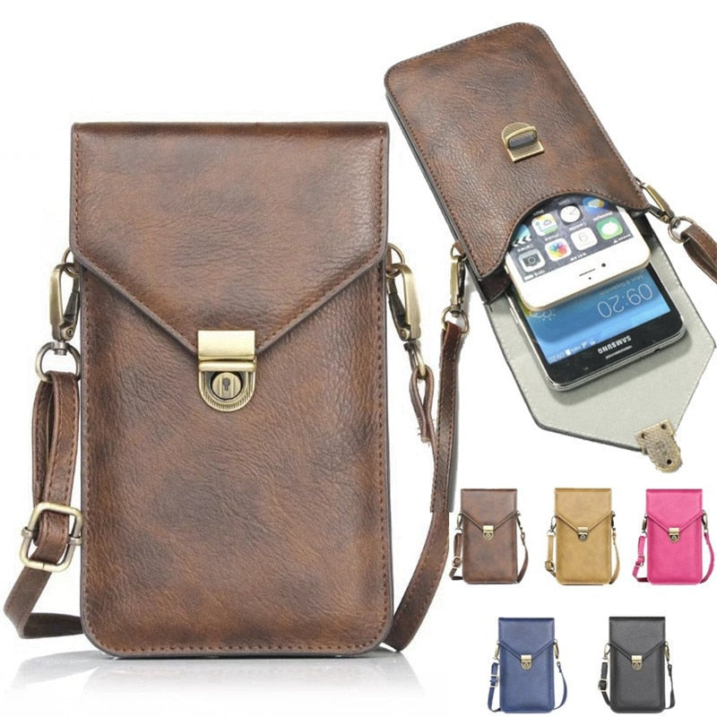 Universal Phone Bag Pouch Neck Strap Wallet Case For Samsung Galaxy