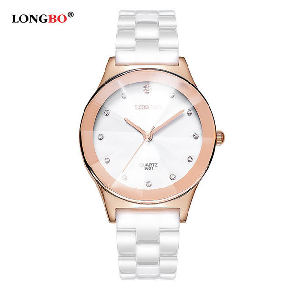 Luxury White Ceramic Water Resistant Classic Easy Read Sports Women