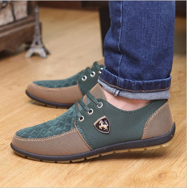 Men fashion Flats Leather