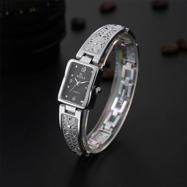 2017 Women Fashion Bracelet Watch Luxury Gold/silver Quartz