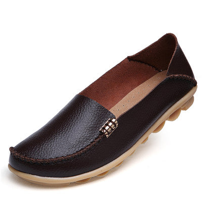 Fashion Women Flats Genuine Leather