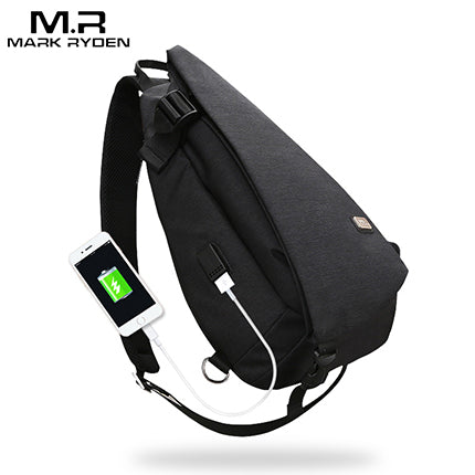 New Arrivals USB Design Waterproof  Shoulder Bag
