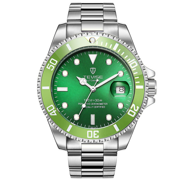 Luxury Green Waterproof Sport Business Wrist watch Male Clock