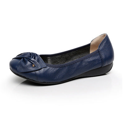 Genuine Leather Shoes Woman Flats