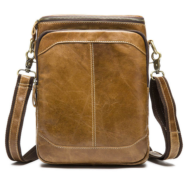 Leather Bags male men Crossbody bags Casual