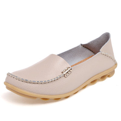Moccasins Women Leather Flats Casual Shoes