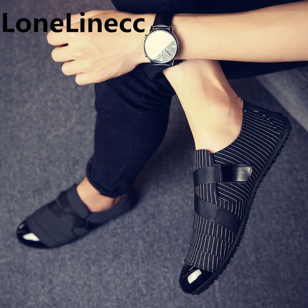 Man Shoes Walking Ventilation Casual Slip Driving Moccasin Loafers Flat Shoes
