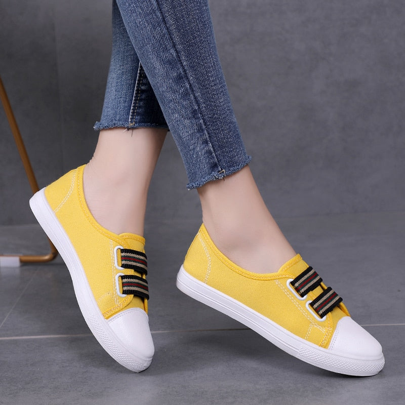 Women Sneakers Canvas Shoes Woman Flats Shoes