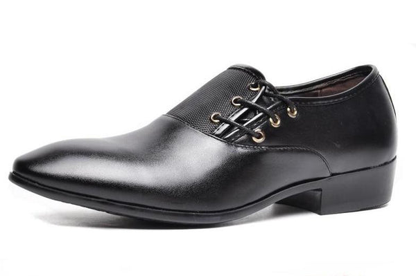 Man Lace-Up Business Leather Shoes