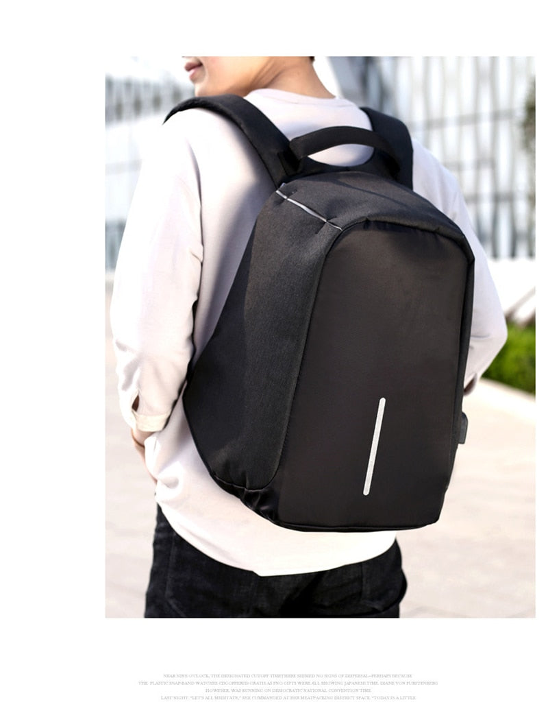 Anti Theft Backpack Bag Business USB Charge Waterproof