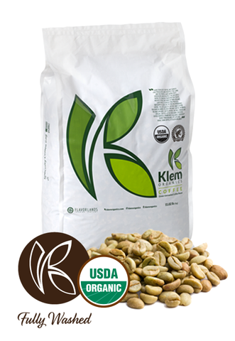 Single Origin Organic Unroasted Green Coffee Beans, Specialty-grade, Direct trade, Brazil | Klem-C01
