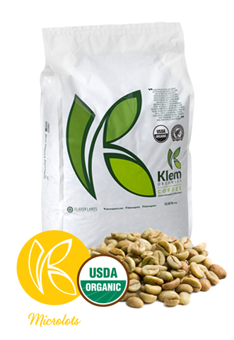 Single Origin Organic Unroasted Green Coffee Beans, Specialty-grade, Direct trade, Brazil | Klem-C15