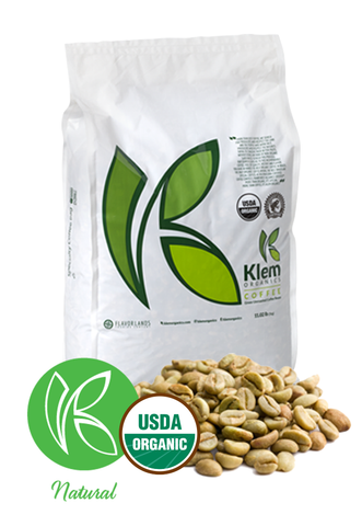 Single Origin Organic Unroasted Green Coffee Beans, Specialty-grade, Direct trade, Brazil | Klem-C07