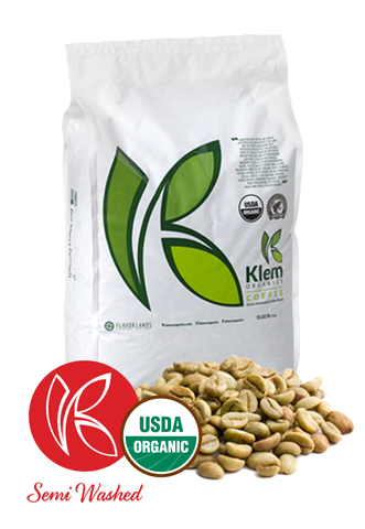 Single Origin Organic Unroasted Green Coffee Beans, Specialty-grade, Direct trade, Brazil | Klem-C04