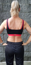 Black & Red Bamboo Crop Top