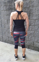 """Urban Coral"" 3/4  Active Leggings. XS to 3XL"