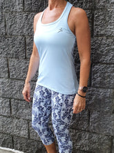 Gmaxx Ice Blue Strappy Back Sports Top