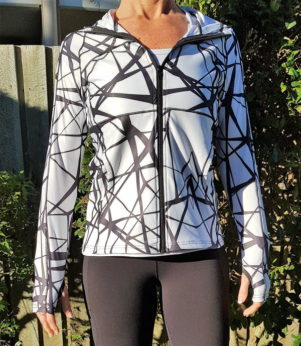 Limited Edition Gmaxx Black & White Print Sports Jacket