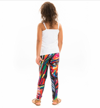 NATURE GIRL SPIRIT Kids Leggings. Authentic Australian Aboriginal Art