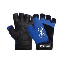 STING VX1 Ladies Training and Exercise Gloves. Pink and Blue.