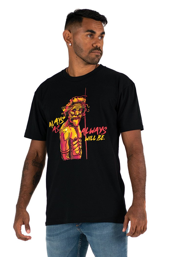WARRIOR - NAIDOC Men's Black Tee