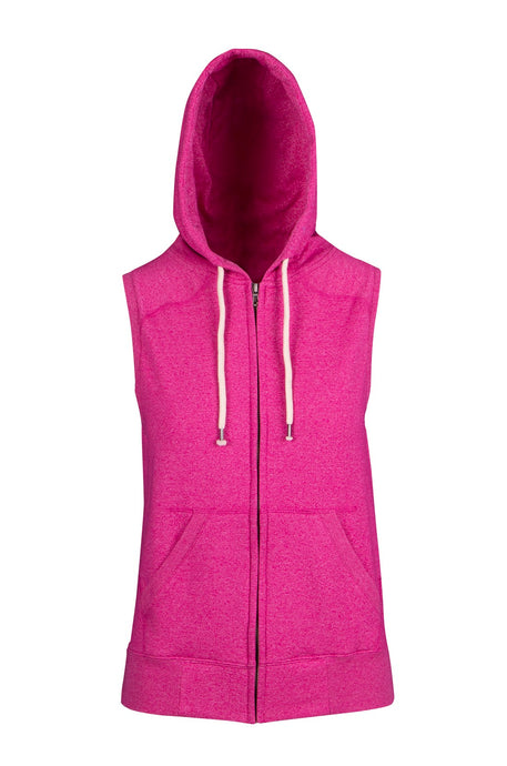 Assorted Sleeveless Heather Zip Up Hoodies