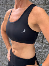 Gmaxx Active Black Crop Top with feature phone pocket